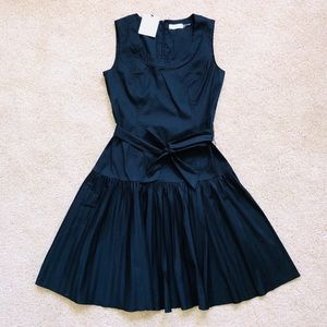 Calvin Klein Black Pleated Tea Dress Sz 6